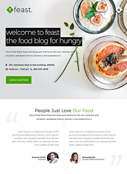 Food Blog HTML5/CSS3 Website