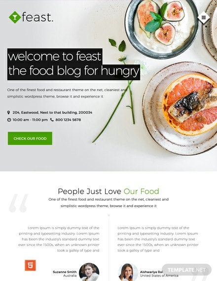 Free Food Blog HTML5/CSS3 Website