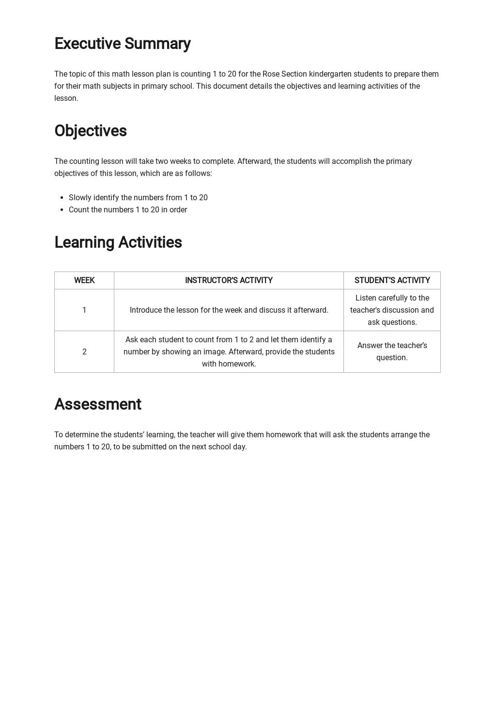 Kindergarten Math Lesson Plan Template 1.jpe