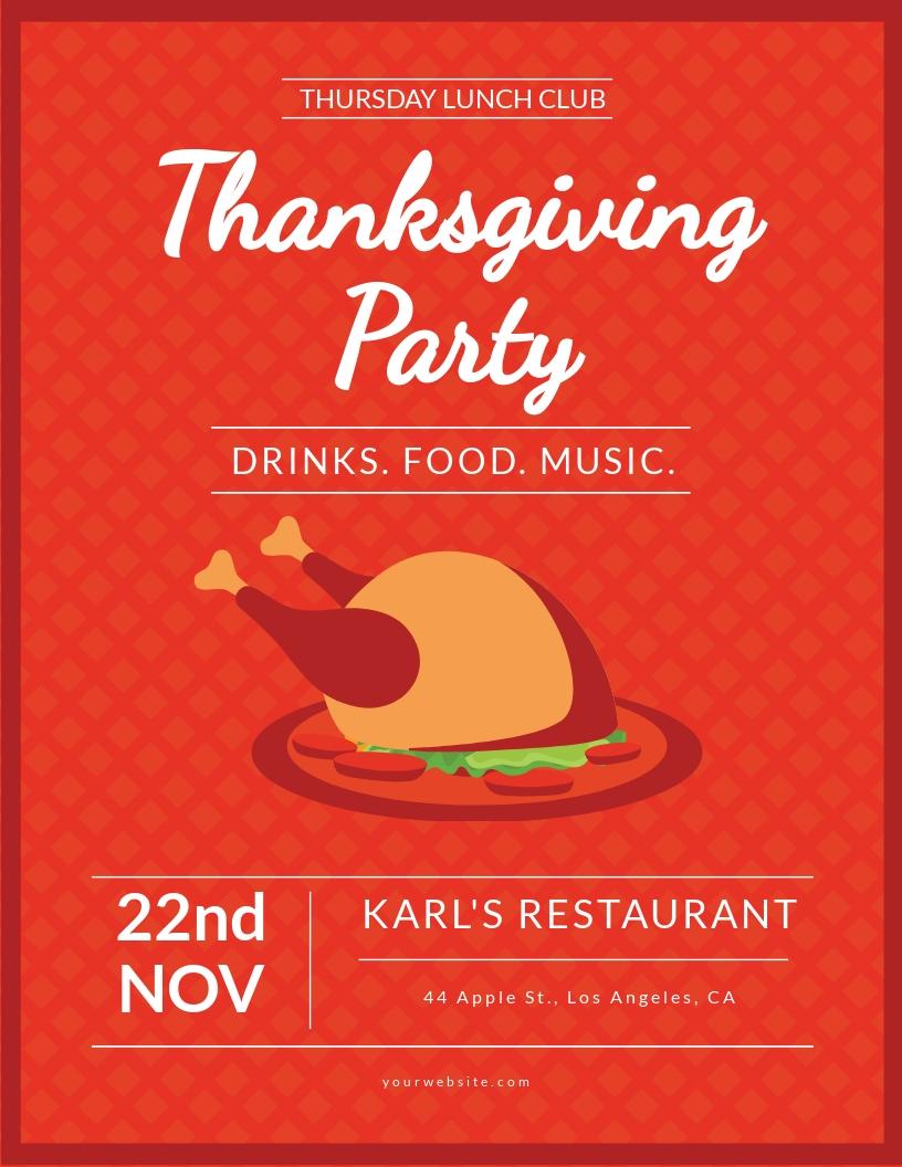 Club Thanksgiving Flyer Template.jpe