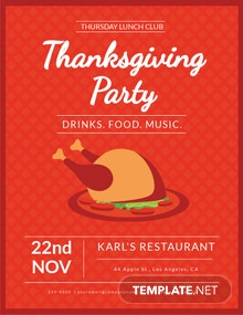 Free Club Thanksgiving Flyer Template