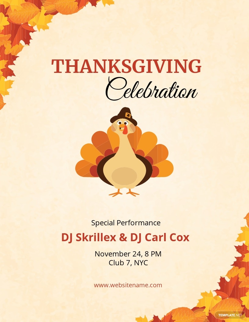 DJ Thanksgiving Flyer Template