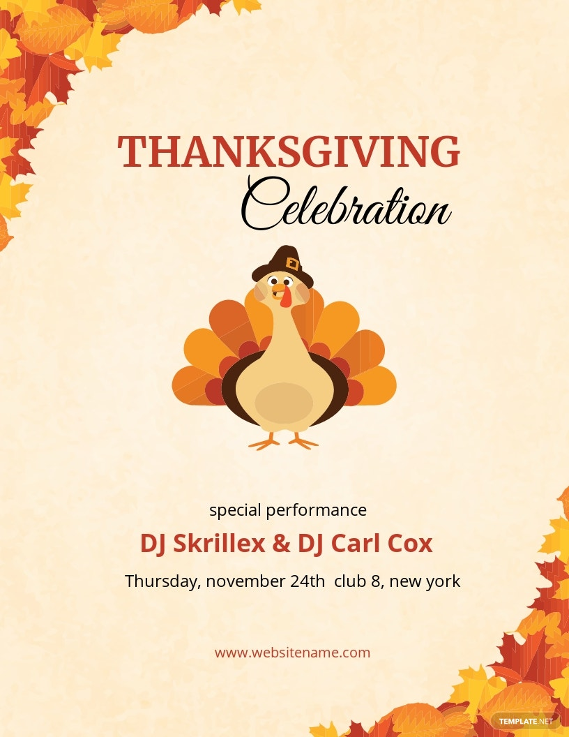 DJ Thanksgiving Flyer Template