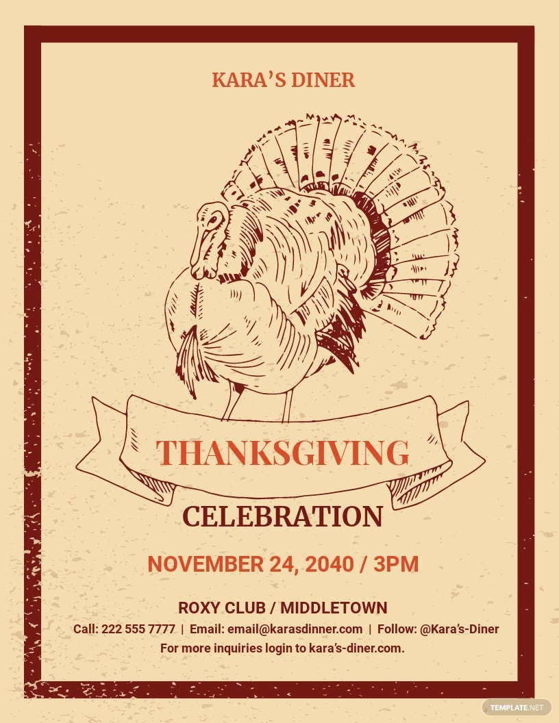 Supreme Thanksgiving Invitation Flyer Template