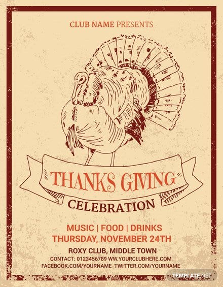 Supreme Thanksgiving Invitation Flyer