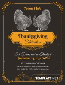 Free Printable Thanksgiving Party Flyer