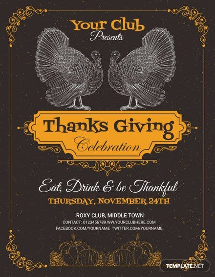 Printable Thanksgiving Party Flyer