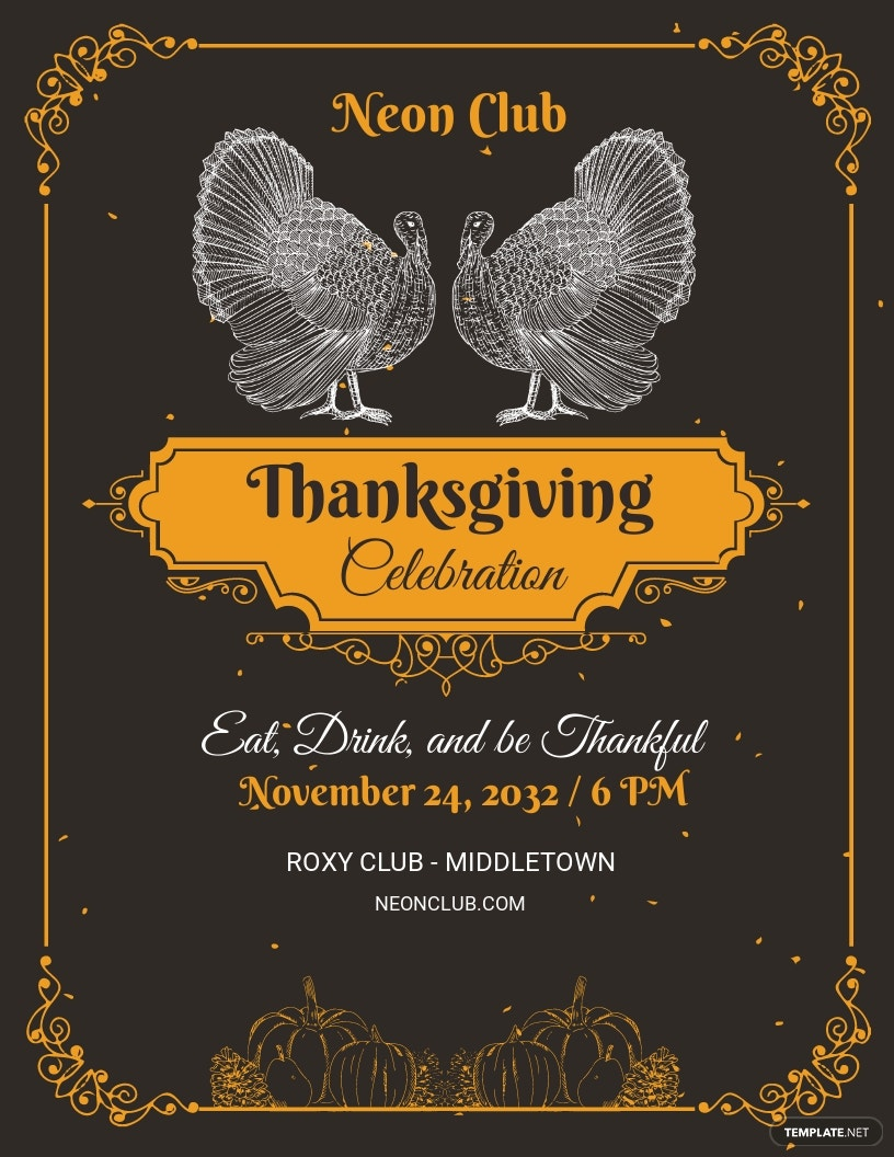 Printable Thanksgiving Party Flyer Template.jpe