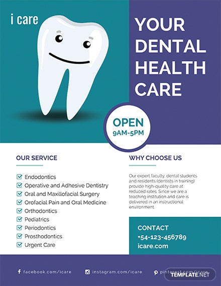 free dental care flyer template  download 730  flyers in