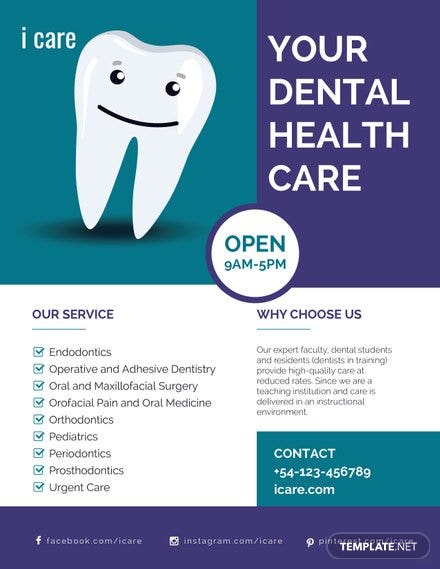 Free Dental Care Flyer Template   Free Templates
