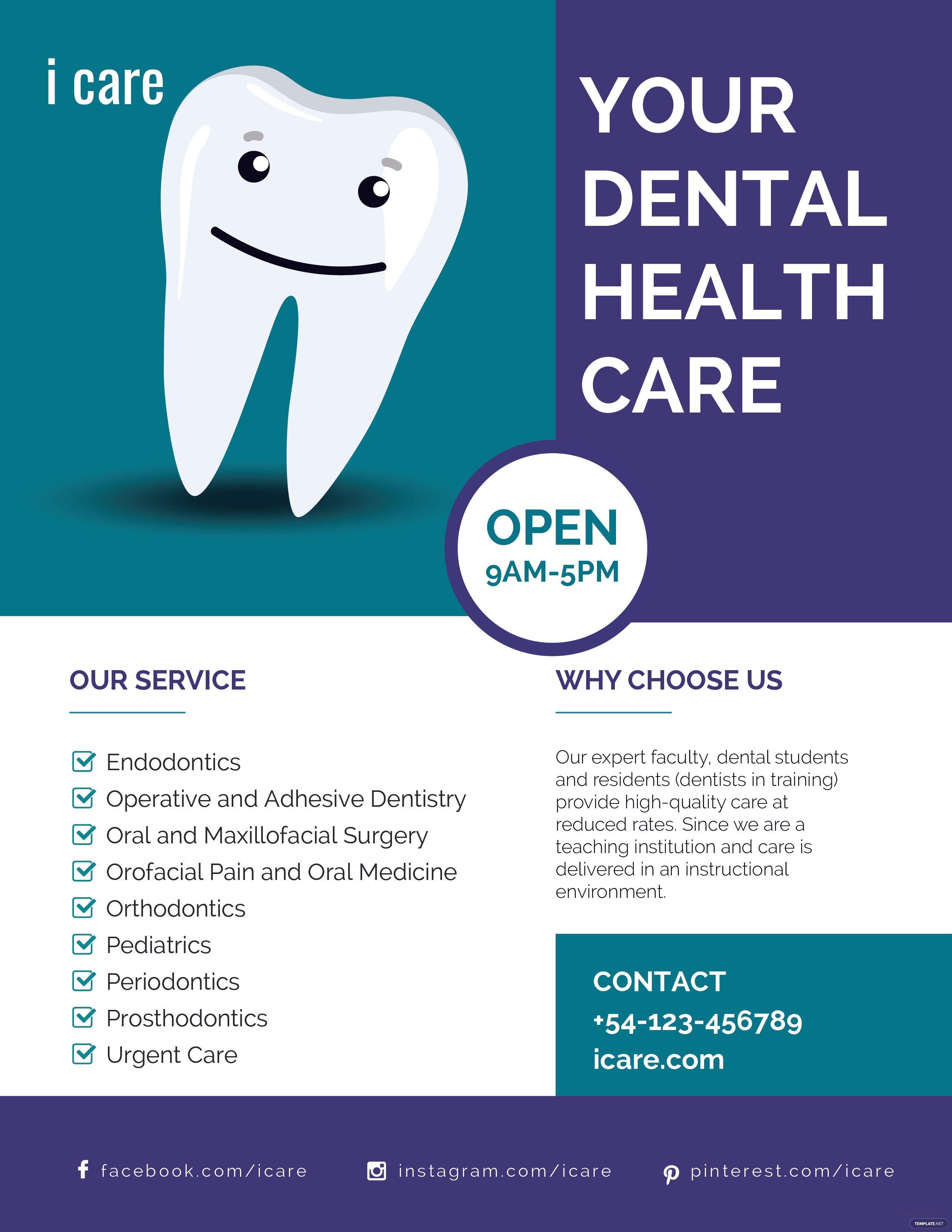 free dental care flyer template in adobe photoshop