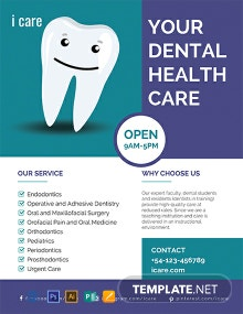 Free Dental Care Flyer Template