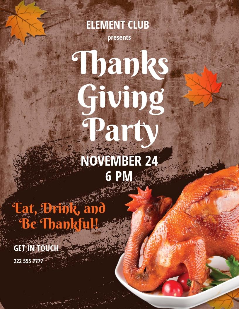 Attractive Thanksgiving Flyer Template.jpe