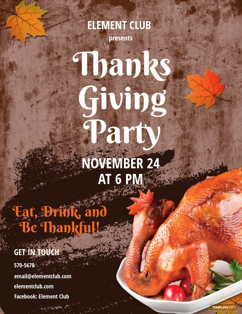Attractive Thanksgiving Flyer Template