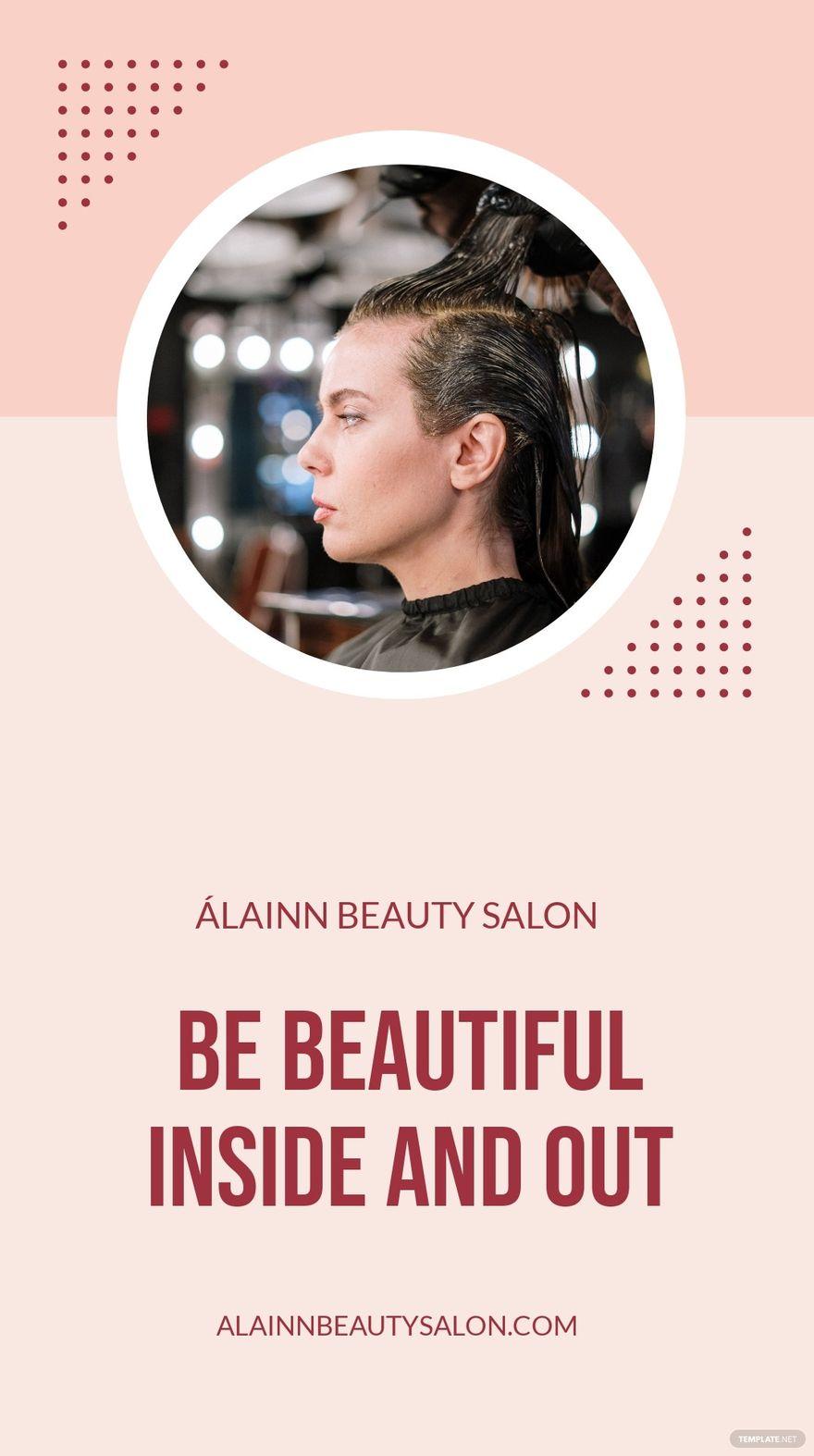 Simple Beauty Salon Instagram Story Template.jpe