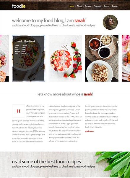 Foodie HTML5/CSS3 Website Template
