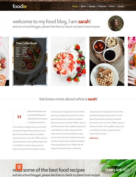 Foodie HTMLCSS Website Template