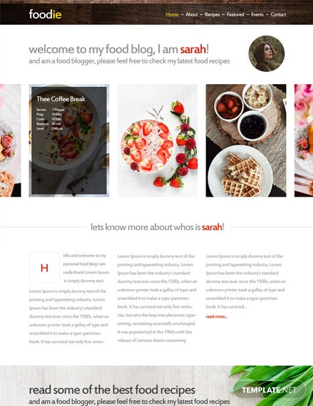 Free Foodie HTML5/CSS3 Website Template