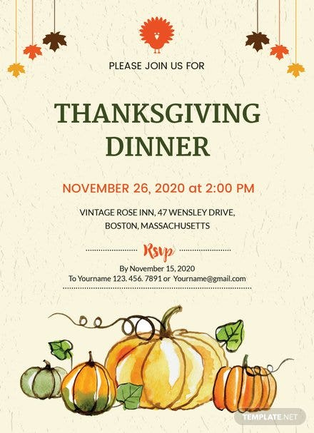Thanksgiving Dinner Party Invitation