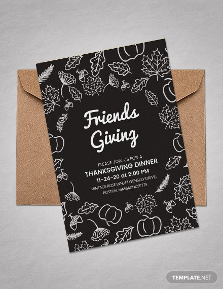 Free Thanksgiving Invitation Template For Friends Word