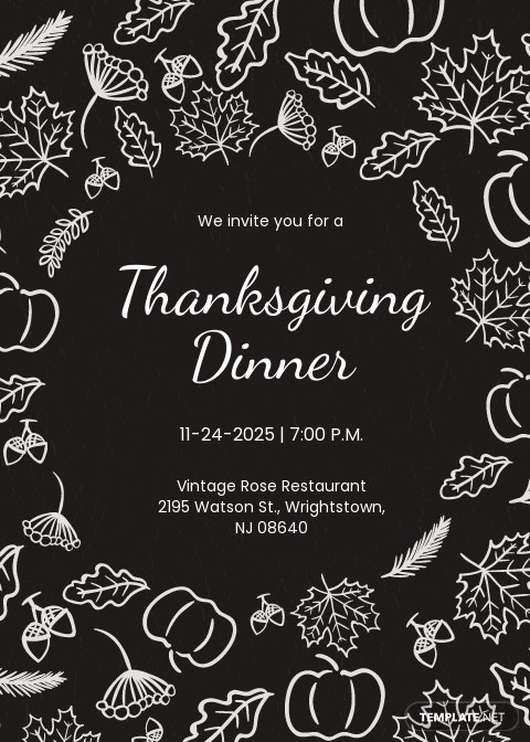 Free Thanksgiving Invitation Template for Friends.jpe