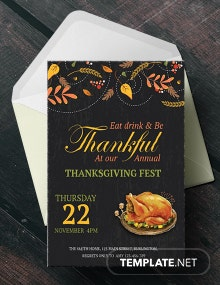 Free Annual Thanksgiving Fest Invitation