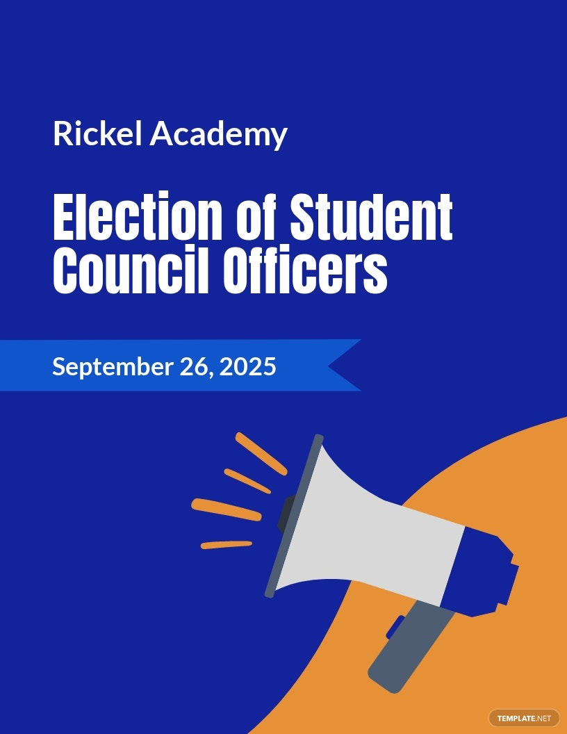 Student Council Election Campaign Flyer Template.jpe