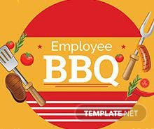 Free Employee Bbq Party Flyer Template In Adobe Photoshop