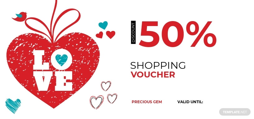 Valentine's Day Shopping Coupon Template