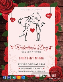 Free Valentine's Day Flyer Template