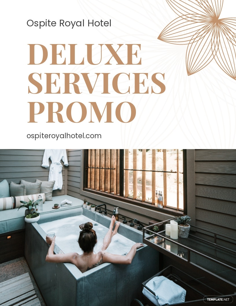 Hotel Service Promotion Flyer Template
