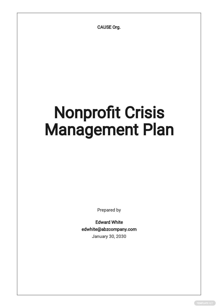 Nonprofit Crisis Management Plan Template.jpe