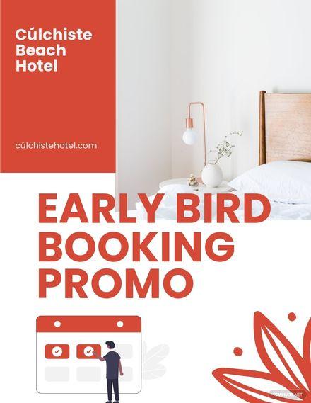 Hotel Bookings Sale Flyer Template