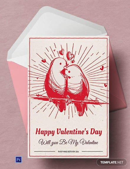 Free Printable Valentine's Day Greeting Card
