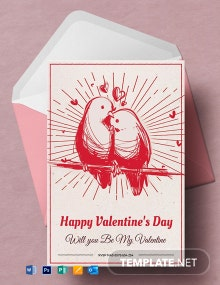Printable Valentine's Day Greeting Card Template