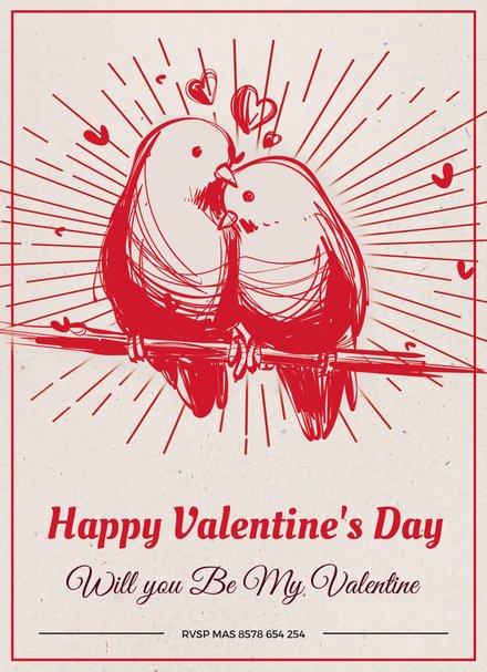 Printable Valentine's Day Greeting Card