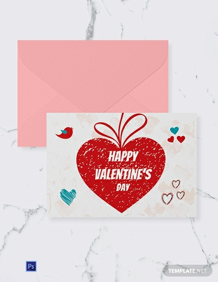 Personalize Valentine Greeting Card Template