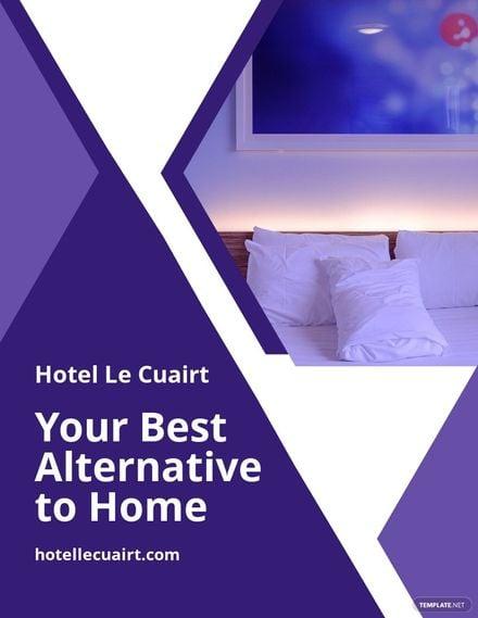 Hotel Advertisement Flyer Template