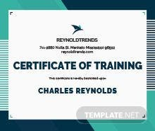 Security training certificate template in illustrator company training certificate template yadclub Images