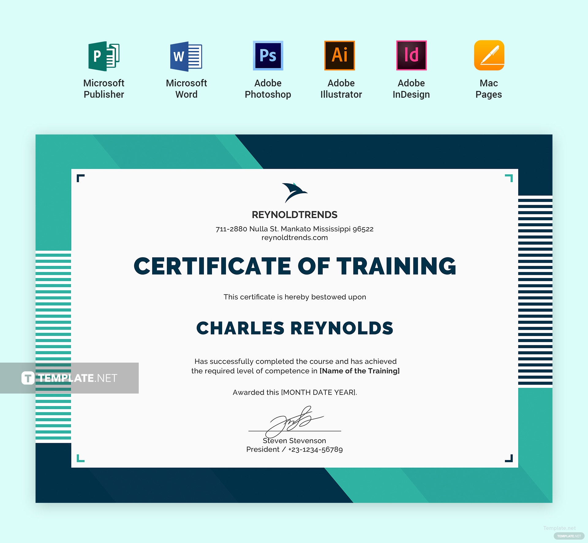 Free Company Training Certificate Template in Adobe ...