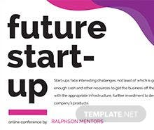 Future Startup Flyer Template