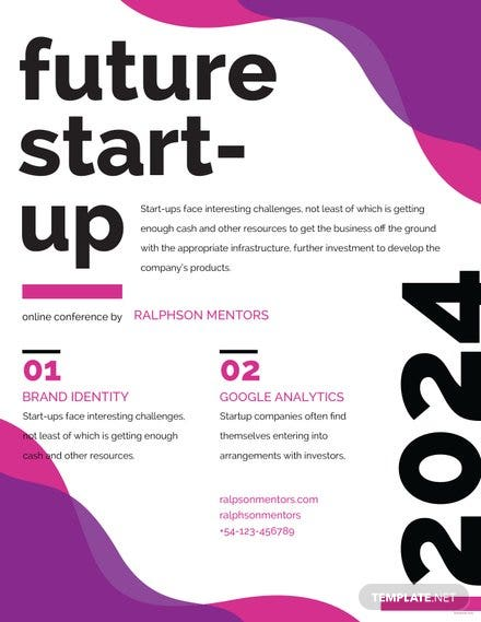 Free Future Startup Flyer Template