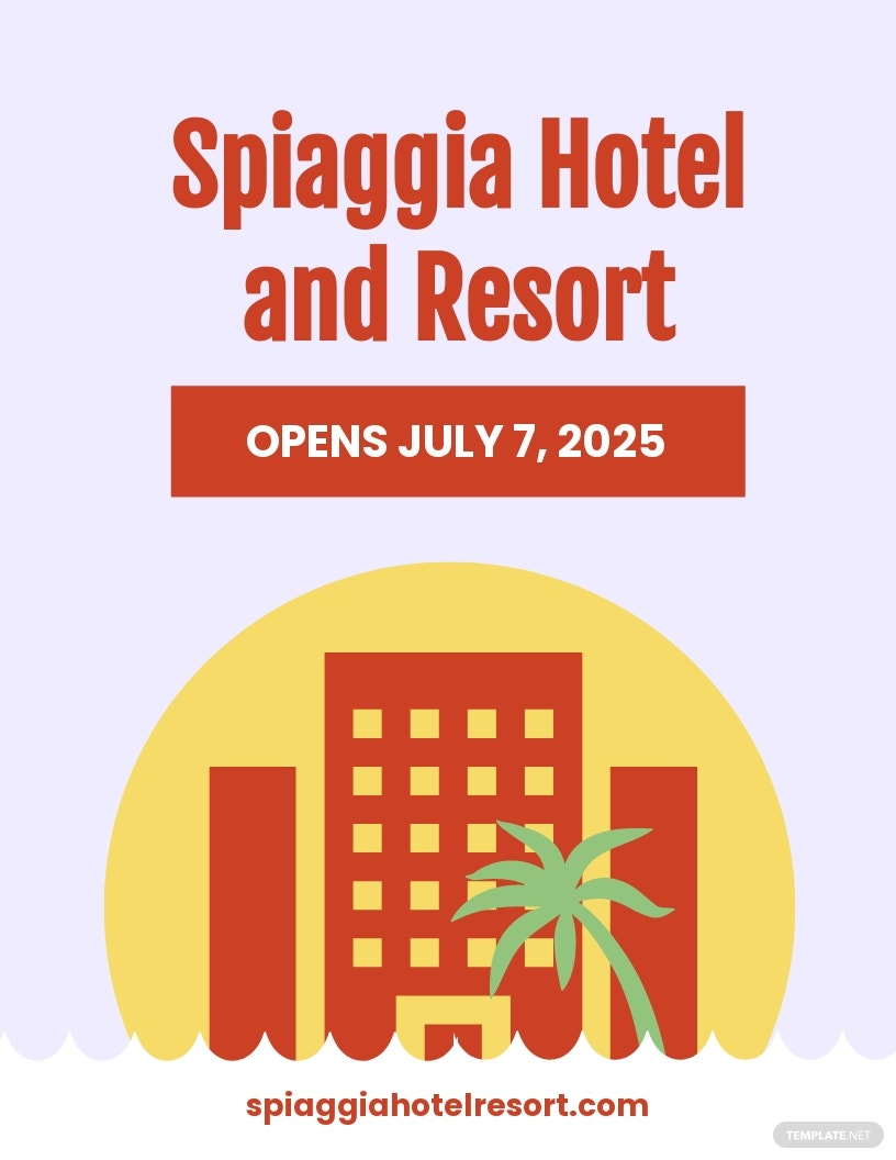 Hotel Opening Flyer Template
