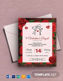 Free Editable Valentine's Day Invitation