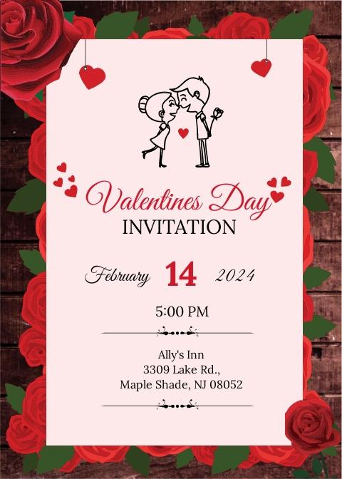 Editable Valentine's Day Invitation
