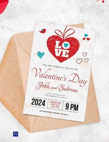 Free Valentine's Day Party Invitation