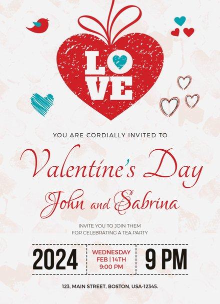 Valentine's Day Party Invitation