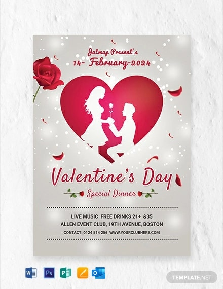 Free Romantic Valentine's Day Menu