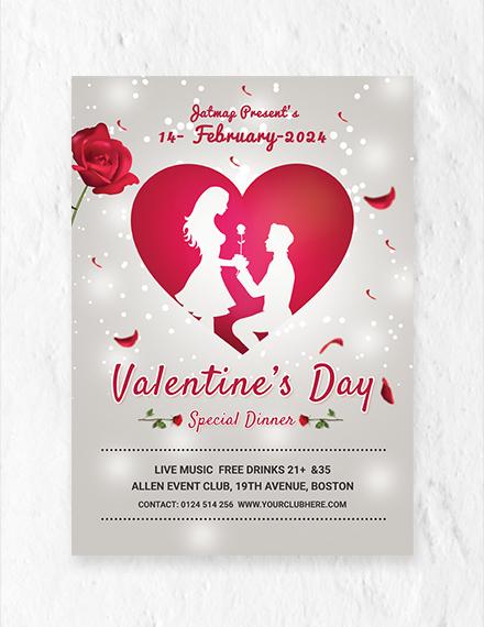 Free Romantic Valentine's Day Menu