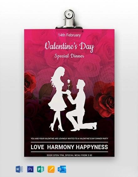 Free Printable Valentine's Day Menu